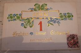 68 - SIERENZ - HERZLICHEN GLUCKWUNSCH ZUM NEUEN JAHRE - JOYEUSE ANNÉE 1908 - Other Municipalities