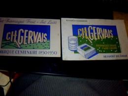 Vieux Papier Buvard X2 Centenaires (1850_1950) Des Fromageries Charles Gervais - F