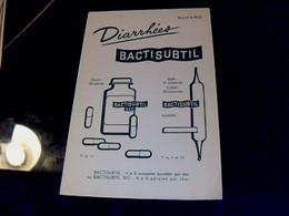 Vieux Papier Buvard Médicament  Diarrhées Bactisubtil - M