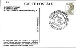 Carte France LIBERTE 1.00 - N° 2185 Nouvelle Numérotation à 8 Chiffres - Cad 25 Octobre 1985 PIERRE Sur HAUTE - Briefe U. Dokumente