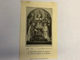 R.P. Augustin Gouweloos Congregation Redempteur *1811 Turnhout Pretre + Bruxelles 1899 Couvent Saint Joseph Imp Becue Br - Esquela