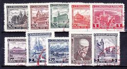 Tchécoslovaquie 1928 Mi 267-76 (Yv 242-51), Obliteré - Gebruikt