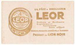 Buvard 21 X 12.5 Produit Du LION NOIR  La Pâte à Brillanter LEOR - Wash & Clean