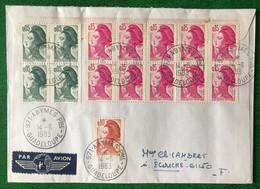 France N°2178 (x4), 2179 Et 2180 (x10) Sur Enveloppe TAD ABYMES Ppal Guadeloupe 14.6.1983 - (B3492) - 1961-....