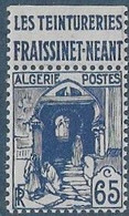 ALGERIE N°137a ** Avec Pub Teinturerie FRAISSINET  Neuf Sans Charnière  Luxe MNH - Ongebruikt