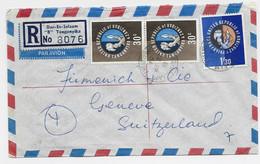 UNITED REPUBLIC TANGANYIKA ZANZIBAR 30CX2+1/30 LETTRE COVER REC AVUIN DAR ES SALAAM 1964 TO SUISSE - Zanzibar (...-1963)