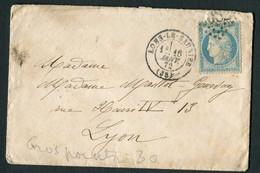 FRANCE ( OBLITERATION LOSANGE ) : GC  2082  Lons-le-Saulnier  Jura (38)    SUR  ENVELOPPE , A  SAISIR .18/12 - 1849-1876: Classic Period