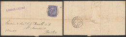 "émission 1884 - N°48 Sur LAC Obl Simple Cercle ""Malines (station)"" > Dublin (Irlande). - 1884-1891 Leopoldo II"