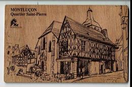 56400 - Carte Postale En Bois - Montlucon - Quartier Saint Pierre - Postkaart In Hout - Montlucon