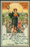 """1899, Privatganzsache """"Allgemeine Deutsche Sportausstellung, München"""" - Bavaria"""