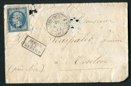 FRANCE ( OBLITERATION LOSANGE ) : PC  4250  Villefranche-sur-Mer  Alpes-Maritimes (87) SUR  ENVELOPPE , A  SAISIR .18/12 - 1849-1876: Période Classique