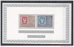 Norvège,  1972 Bloc N°2 Neuf  Centenaire Du Timbre Avec Cor De Poste - Blocks & Sheetlets