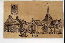 56403 - Carte Postale En Bois - LIZIO - FEEL BOIS CERATION ARTISANALE  - Postkaart In Hout - Andere Gemeenten