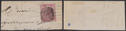 émission 1865 - N°20 Sur Fragment De Lettre + Obl Rurale (muet, 16 Barres). Superbe ! - 1865-1866 Profiel Links