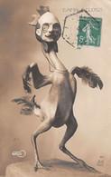 CPA SATIRIQUE ± 1910 ILLUSTRATEUR CÉSAR GIRIS - CHANTECLER - ROSTAND - COQ - ED. A.N  PARIS N°42 (¬‿¬) ♥ - Teatro