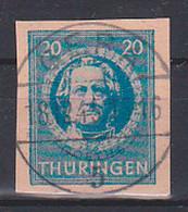 SBZ Thüringen 98B Gestempelt 20 Pf. Johann Wolfgang Von Goethe - Zona Soviética