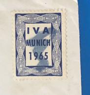 Erinnophilie Vignette Aufkleber Stamp,Label-☛Exposition Internationale Transport 65IVA 65-Marcophilie-☛Munich-Bavière - Briefe U. Dokumente