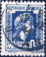 214 MARIANNE D' ALGER 1,50 BLEU OBLITERE  ANNEE 1944 - Used Stamps
