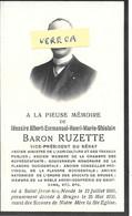 GENEALOGIE - Messire Albert Emmanuel Henri Marie Ghislain Baron RUZETTE Né à Saint Jossele 22/7/1866 Décès à Bruges Le 2 - Overlijden