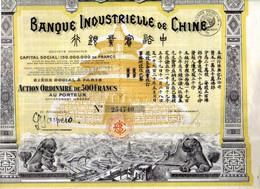 BANQUE INDUSTRIELLE De CHINE - Asie