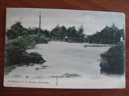 The Canal Weir, Weybridge, Surrey - Posted 1905 - Surrey