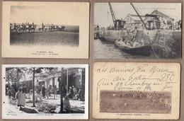 LOT 20 CPA MAROC - MILITAIRES CAMPAGNE 1907 VILLAGES + CASABLANCA RABAT ANIMATIONS COLONNES Mosquée - Ohne Zuordnung