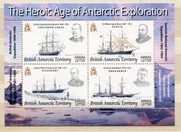 """British Antarctic Territory - Block Nr. 15 - """"Polarforscher Und Ihre Schiffe"""" ** / MNH (aus Dem Jahr 2008) - Unused Stamps"""