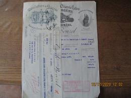 HAUBOURDIN EMILE BONZEL MANUFACTURE DE CHICOREE EXTRA A LA BERGERE ET KOKA BONZEL FACTURE ET TRAITE DU 29 AVRIL 1933 - 1900 – 1949