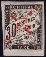 ✔️ St. Pierre Et Miquelon 1892 - Taxe Avec Surcharge Rouge - Yv. 53 * MH - €40 - Signé Galvez - Andere