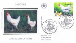 Enveloppe 1er Jour Animaux De La Ferme, La Poule, 2004 (YT 3663) - 2000-2009