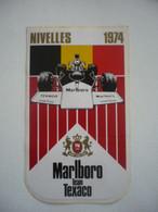 Autocollant - Sticker - Grand Prix F1 - Belgique - Nivelles - 1974 - Marlboro Team Texaco - Automobilismo - F1
