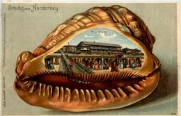 Gruss Aus Norderney -  Muschel - Litho - Norderney