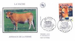 Enveloppe 1er Jour Animaux De La Ferme, La Vache, 2004 (YT 3664) - 2000-2009