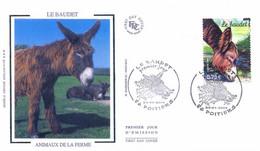 Enveloppe 1er Jour Animaux De La Ferme, Le Baudet, 2004 (YT 3665) - 2000-2009
