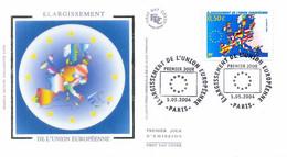 Enveloppe 1er Jour élargissement De L'union Européenne, 2004 (YT 3666) - 2000-2009