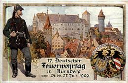Nürnberg - 17. Feuerwehr Tag 1909 - Nuernberg