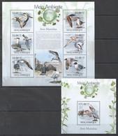 BC1309 2010 MOZAMBIQUE MOCAMBIQUE FAUNA MEIO AMBIENTE BIRDS AVES MARINHAS 1SH+1BL MNH - Marine Web-footed Birds