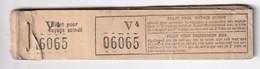 DDY 264 --  LES TRAMWAYS BRUXELLOIS - Carnet (partiel) Contenant Encore 35 Tickets Numérotés Pour Voyage Scindé - Europe