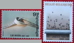 Communication COB 2271-2272 (Mi 2323-2324) 1987 POSTFRIS MNH ** BELGIE BELGIEN BELGIUM - Nuovi