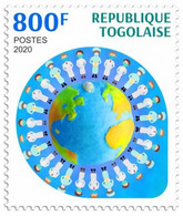 TOGO - 2020 - Fight Against Covid-19 Pandemic - Perf Single Stamp - Mint, Never Hinged - Togo (1960-...)