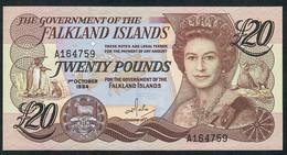 FALKLANDS ISLANDS P15a 20 POUNDS 1984 UNC. - Falkland Islands