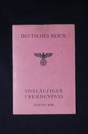 MILITARIA - Allemagne / France - Passeport Pour Etranger Provisoire D'Un Français En 1944 - L 82159 - Documents