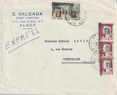 France Marianne De Décaris Surchargée EA Sur Enveloppe Express Pour Montpellier Du 7 Aout 1962 - 1960 Marianne De Decaris