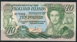 FALKLANDS ISLANDS P14 10 POUNDS 1986 UNC. - Falkland Islands