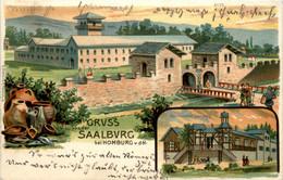 Gruss Von Der Saalburg - Litho - Bad Homburg
