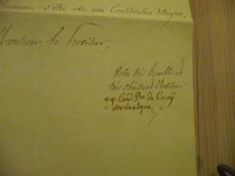 LAS Autographe Signée Cardinal De Croy à En Tête Archevêché De Rouen 1838  Permission D'usage à Un Collège - Handtekening