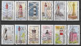 2020 FRANCE Adhesif 1897-908 Oblitérés, Phares, Série Complète - KlebeBriefmarken