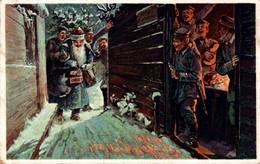 77146-  Nikolaus Weihnachtsmann Nikolo, Krampus Bei Den Soldaten - Sinterklaas
