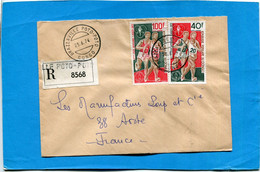 MARCOPHILIE-Congo -Lettre-REC +Thematic Cad 1974 Brazza Potopo Poto- 2stamps N°A182-3 Sports - Other