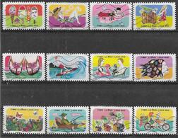 2020 FRANCE Adhesif 1873-84 Oblitérés, Vacances, Série Complète - KlebeBriefmarken